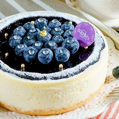 六吋【多茄米拉★阿帕起司-藍莓重乳酪蛋糕】純手工細火熬製自製濃純藍莓醬/吃的到整顆飽滿的藍莓!新鮮酸甜滋味搭配乳酪超濃郁奶香!#團購美食#重乳酪