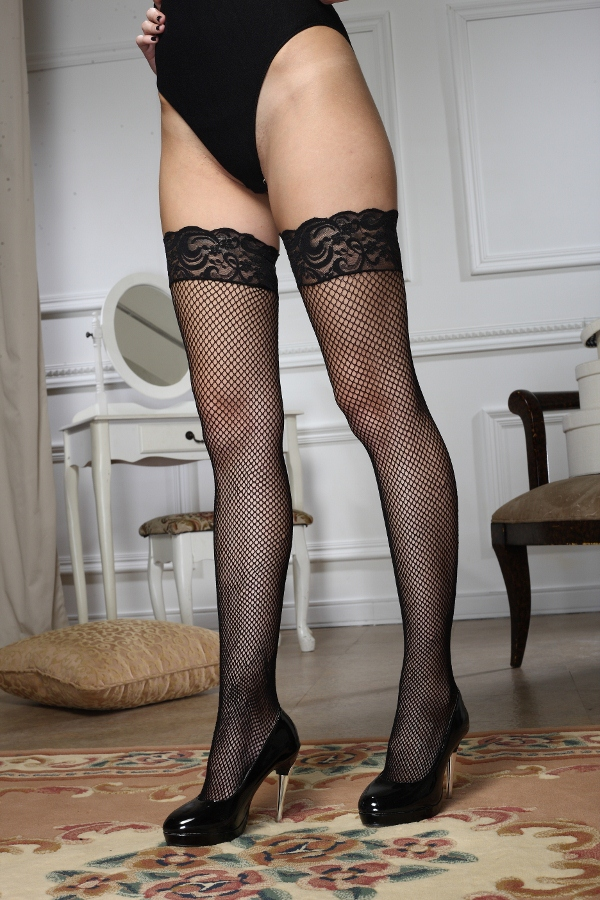 【IMPULSE】台灣製造.歐美熱銷款 開店全面特價中↘ J1002T 蕾絲漁網止滑長統襪