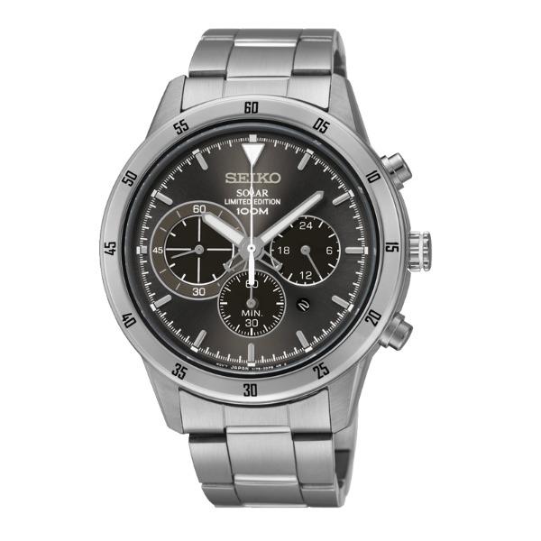 Seiko Spirit V175-0DB0S(SSC341P1)極致競速太陽能計時腕錶/鐵灰面41mm