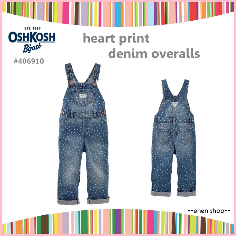 Enen Shop @OshKosh B'gosh 俏皮愛心款吊帶褲 ∥12M/18M/24M/2T/3T/4T/5T