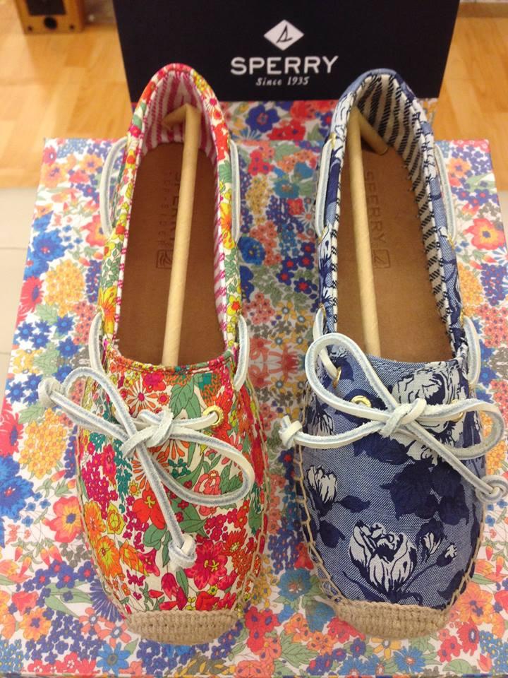 【零碼出清$990,全館免運】《帆船鞋的始主~SPERRY》  經典帆船鞋 Sperry 與英國皇室級Liberty~限量聯名鞋款 ~  草編 休閒鞋