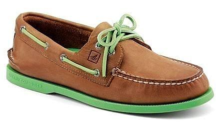 【零碼出清3折,全館免運】SPERRY Men's Boat Shoe 男士帆船鞋 流行好搭配男款 綠底