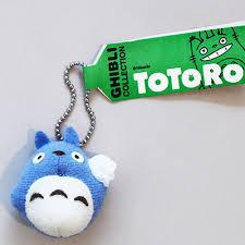 【真愛日本】5051000094 Q版吊卡小吊飾-藍龍貓   龍貓 TOTORO 鑰匙圈 掛飾