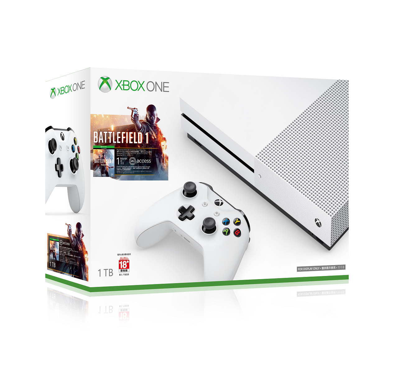 現貨供應中 公司貨 一年保固 [XBOX ONE 主機]  Xbox One S 1TB 戰地風雲 1 同捆組
