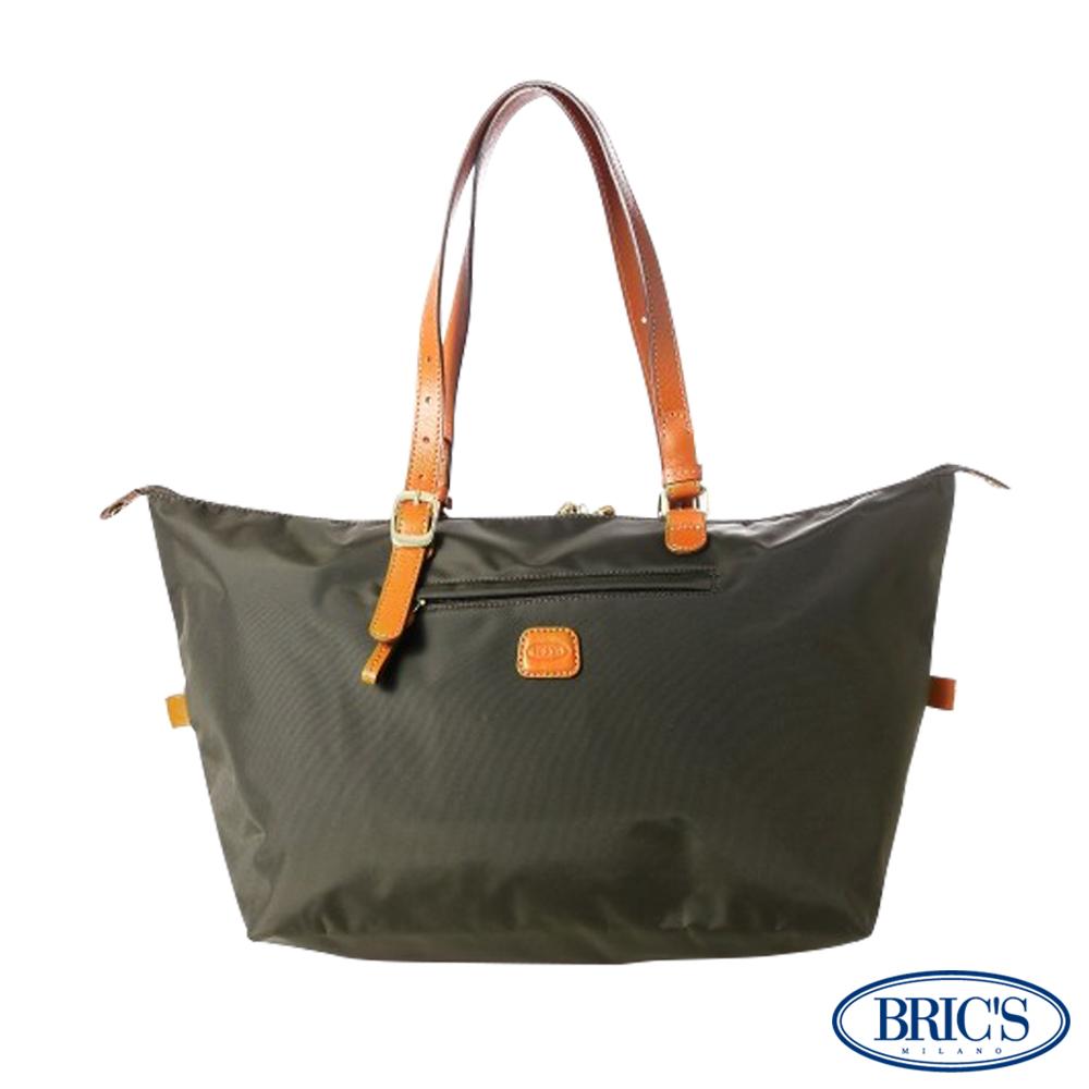 【米蘭BRIC'S】經典尼龍多空間-手提袋-橄欖綠 收納女士休閒