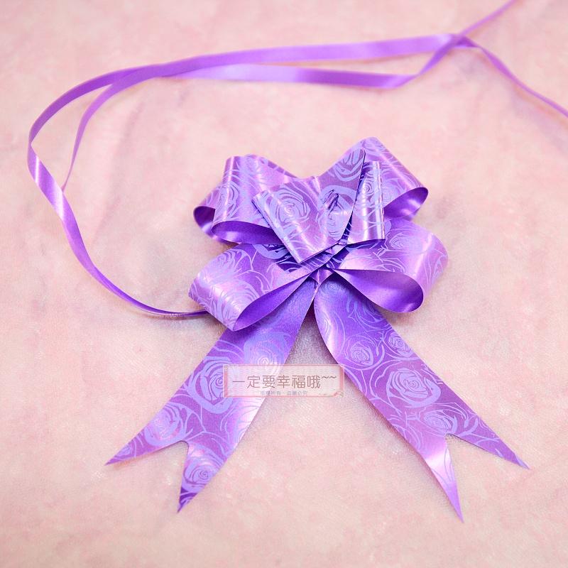 一定要幸福哦~~玫瑰紫色車門把花、男方結婚用品.迎娶