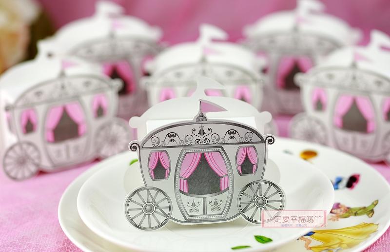 一定要幸福哦~~童話馬車喜糖盒、婚禮小物、送客禮、喜糖、派對