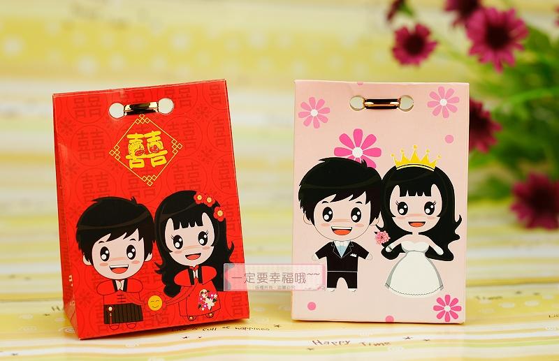 一定要幸福哦~~公主王子幸福喜糖盒、婚禮小物、送客禮、喜糖.