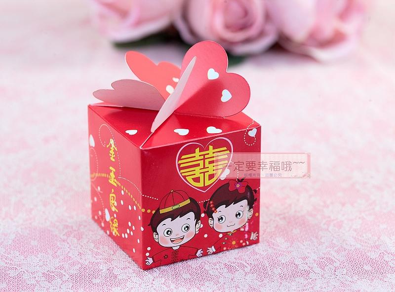 一定要幸福哦~~金玉良緣喜糖盒、紙盒.婚禮小物.送客喜糖
