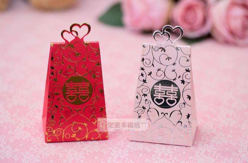 一定要幸福哦~~心心相印喜糖盒、婚禮小物、送客禮、喜糖