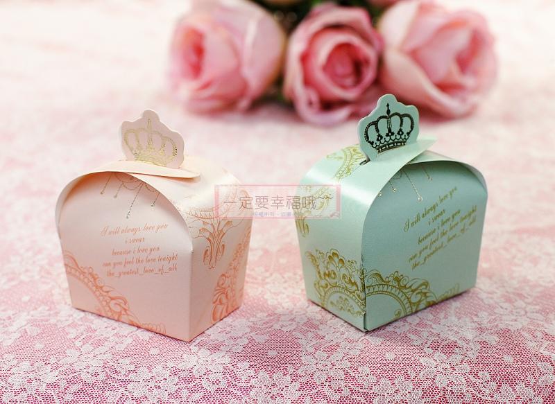 一定要幸福哦~~皇冠喜糖盒,婚禮小物.送客禮.喜糖.派對