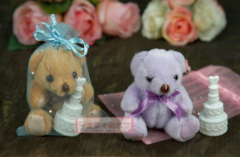 一定要幸福哦~~歡樂小熊+泡泡水、送客禮、婚禮小物、二次進場