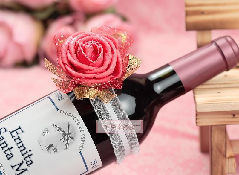 一定要幸福哦~~手腕花(紅)、酒瓶花、伴娘花