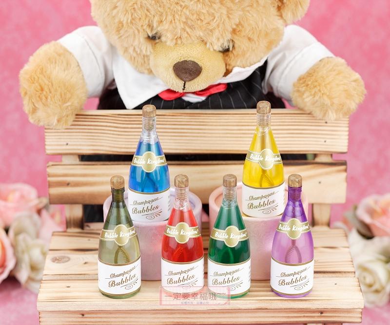 一定要幸福哦~~香檳造型泡泡水、派對、生日、婚禮小物、泡泡水