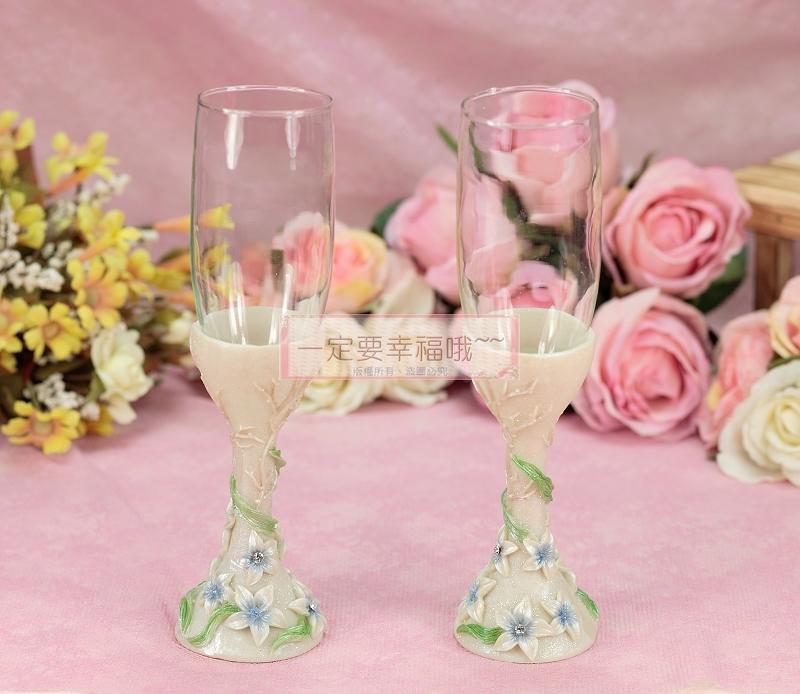 一定要幸福哦~~浪漫婚宴對杯、婚禮小物、姐妹禮、結婚證書