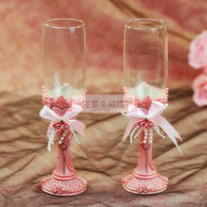 一定要幸福哦~~浪漫婚宴對杯、婚禮小物、婚禮佈置