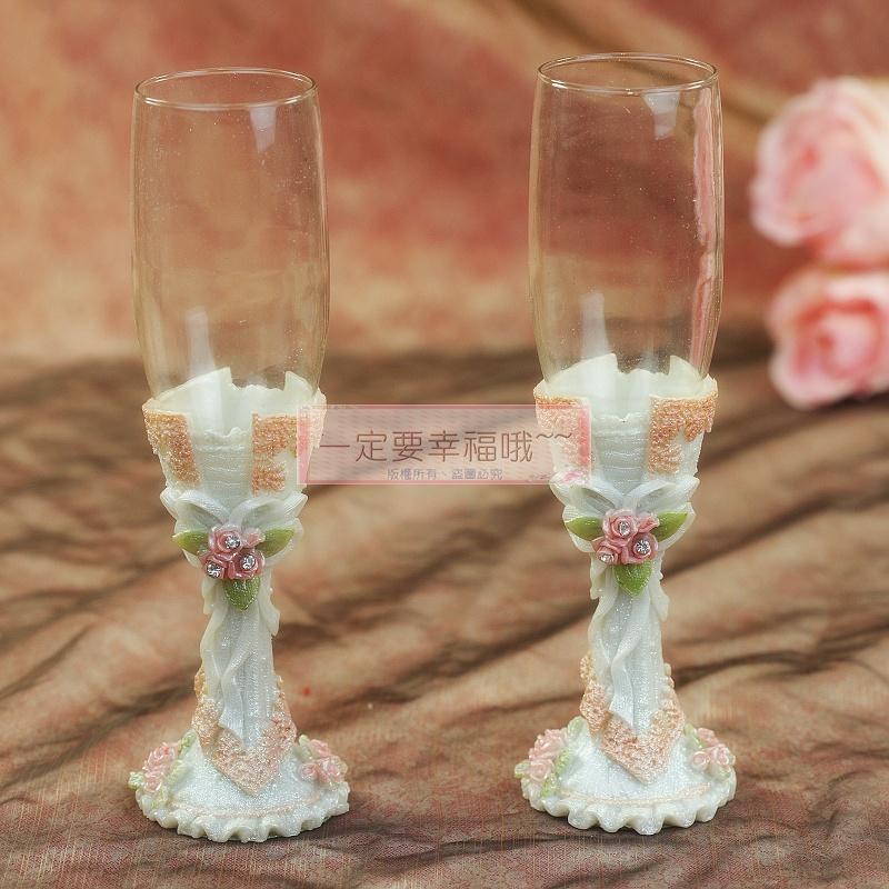 一定要幸福哦~~浪漫婚宴對杯、婚禮小物、姐妹禮、結婚證書、婚禮佈置