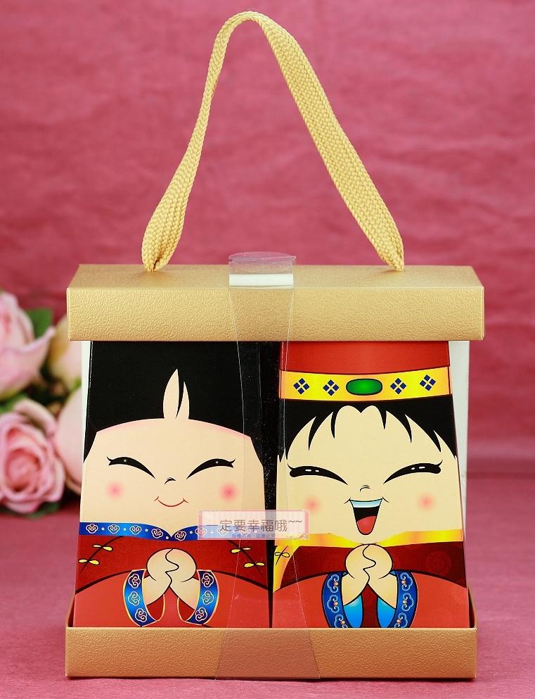 一定要幸福哦~~中式新人喜米禮盒DIY、囍米、婚禮小物、喜米、結婚喝茶禮、彌月禮