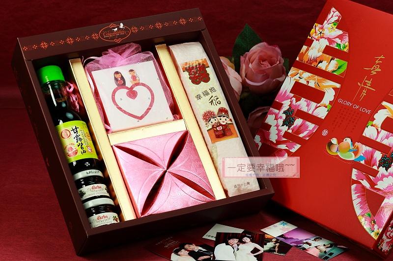 一定要幸福哦~~A08幸福抱稻茶米油果醬禮盒、囍米、婚禮小物、喜米、結婚、訂婚、喝茶禮、婚俗用品、喜茶