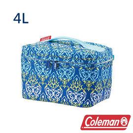Coleman 4L藍葉圖騰保冷袋 CM-22228 露營│登山│行動冰箱│保冰袋│野餐│?