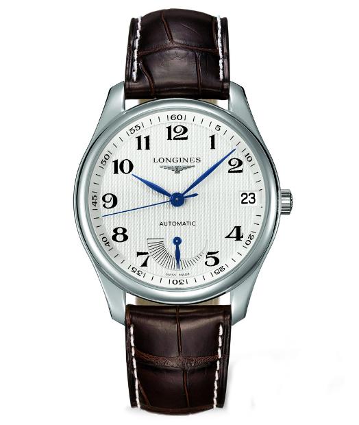 LONGINES L26664783巨擘經典動力顯示機械腕錶/白網紋面42mm