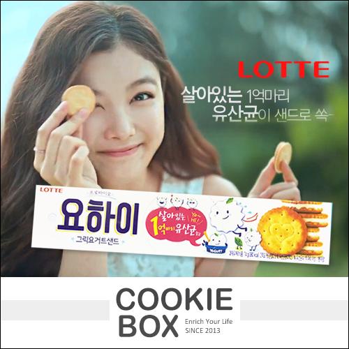 韓國 LOTTE 樂天 優格 夾心 餅乾 乳酸菌 酥餅 金裕貞 雲畫的月光 *餅乾盒子*