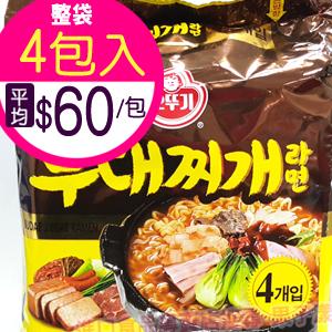 韓國不倒翁 部隊鍋風味拉麵 袋裝(4包入) /泡麵 [KR285A]