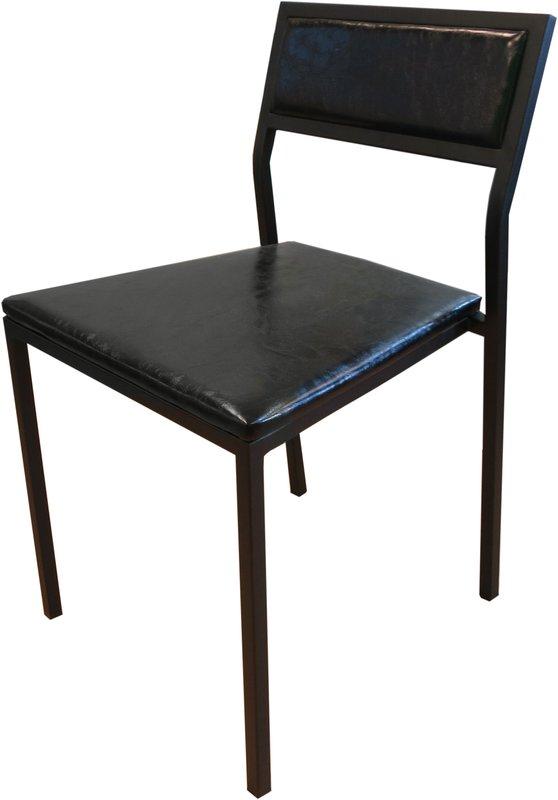 【新生活家具】 黑色 日式 鐵椅 洽談椅 餐椅 復刻版 《摩登》 非 H&D ikea 宜家