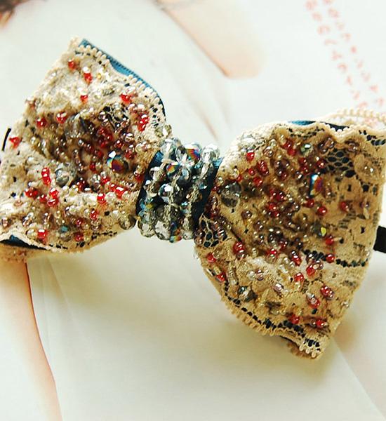 美人百花掲載 精緻蝴蝶結髮夾美人百花掲載Bijou ribbon barette
