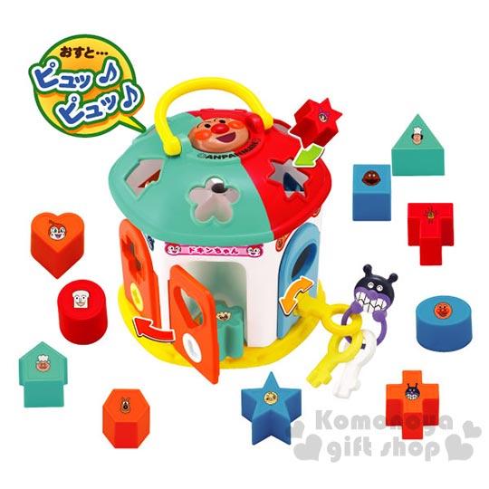 〔小禮堂〕麵包超人 益智積木組玩具《房屋型.造型積木.盒裝》適合2歲以上孩童