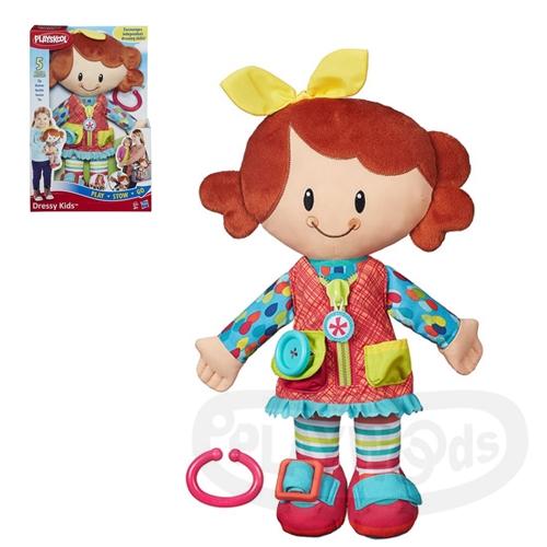 【Playwoods】[兒樂寶PLAYSKOOL]好朋友裝扮遊戲組-GIRL Playskool Dressy Kids Girl(孩之寶Hasbro/可用洗衣機清洗/扮裝)