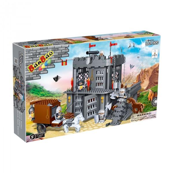 【BanBao 積木】城堡系列-牢房 8261  (樂高通用) (單筆訂單購買再加送積木拆解器一個)