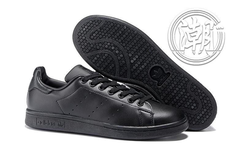 Adidas Stan Smith 街頭經典 愛迪達 史密斯 全黑 黑色 復古百搭 男女 情侶鞋 休閒鞋【T0120】潮