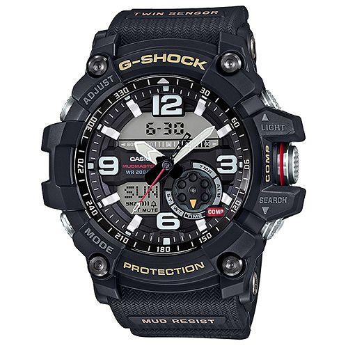 CASIO G-SHOCK GG-1000-1A防塵泥雙感應器強悍腕錶/黑色55.3mm