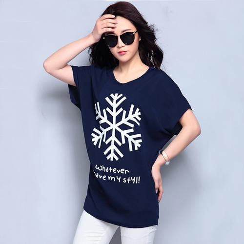 YJY顯瘦修身印花短袖T恤[E003]-6色