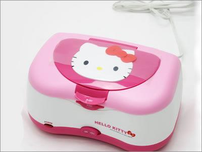 日本KITTY濕紙巾盒加溫器紫外線殺毒加溫盒950416海渡
