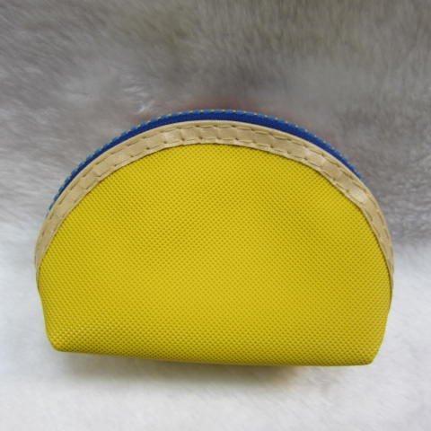 ~雪黛屋~聖地亞 三組可愛零錢包 一組三個大中小多功能使用防水尼龍布材質70-SA556-01 黃