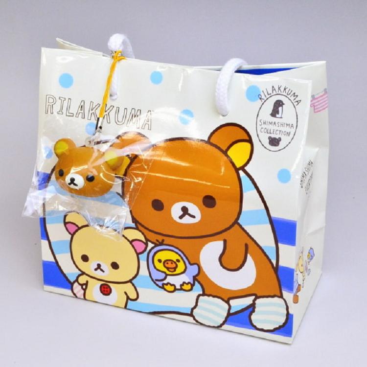 Rilakkuma拉拉熊牛奶熊黃色小雞巧克力餅乾禮袋 (附贈吊飾)