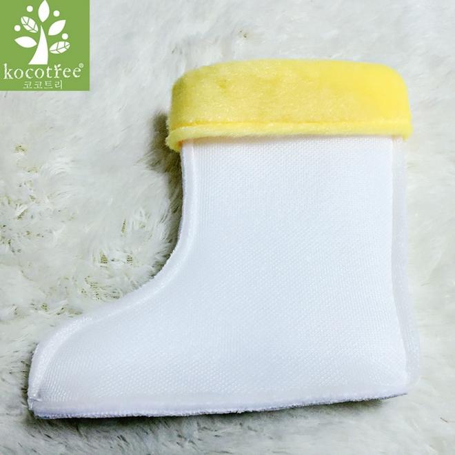 Kocotree◆精選雨鞋專用兒童雨鞋保暖內襯-黃色