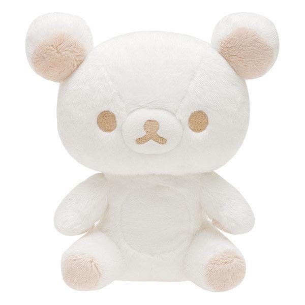 【真愛日本】16111000007 黑白簡約絨毛娃M-坐姿白   SAN-X 懶熊 奶妹 奶熊 娃娃 絨毛娃