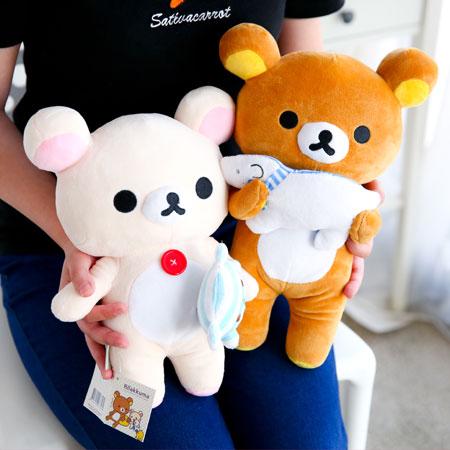 正版拉拉熊抱娃娃造型娃娃 抱枕 娃娃 玩偶 擺飾 Rilakkuma 懶懶熊 懶妹 三麗鷗 禮物【B062363】