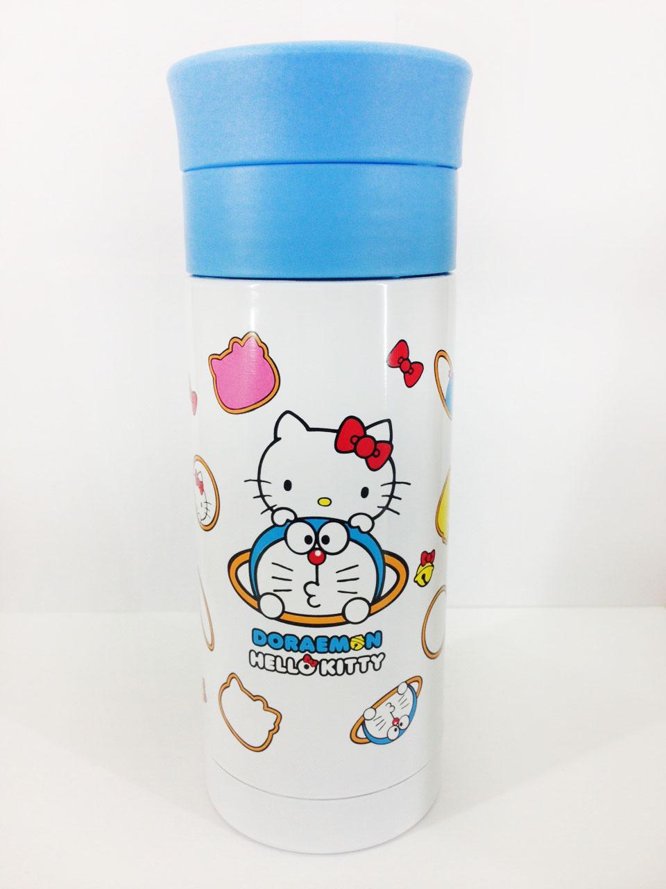 【真愛日本】16022500007KT*DM不銹鋼瓶-藍蓋  三麗鷗 Hello Kitty 凱蒂貓 不鏽鋼 保溫瓶 景品  限量
