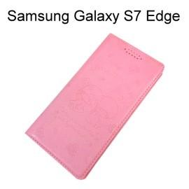 雙子星壓紋皮套 [粉] Samsung G935FD Galaxy S7 Edge【三麗鷗正版授權】