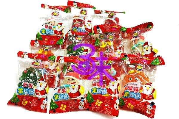 (馬來西亞) 日日旺 聖誕水果味軟糖 1包 1000 公克(約 85顆) 特價 300 元 (聖誕果膠糖 聖誕水果Q皮糖 聖誕節造型軟糖)