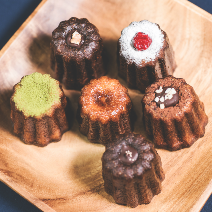 夢幻經典 綜合可麗露 6入 原味、抹茶、巧克核桃、咖啡、伯爵杏仁、苺果可麗露 各一入