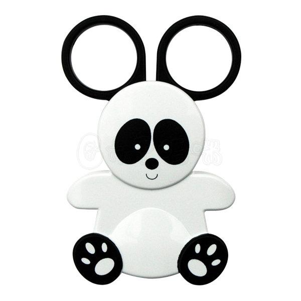 日本製攜帶式不鏽鋼食物剪刀/熊貓造型【六甲媽咪】