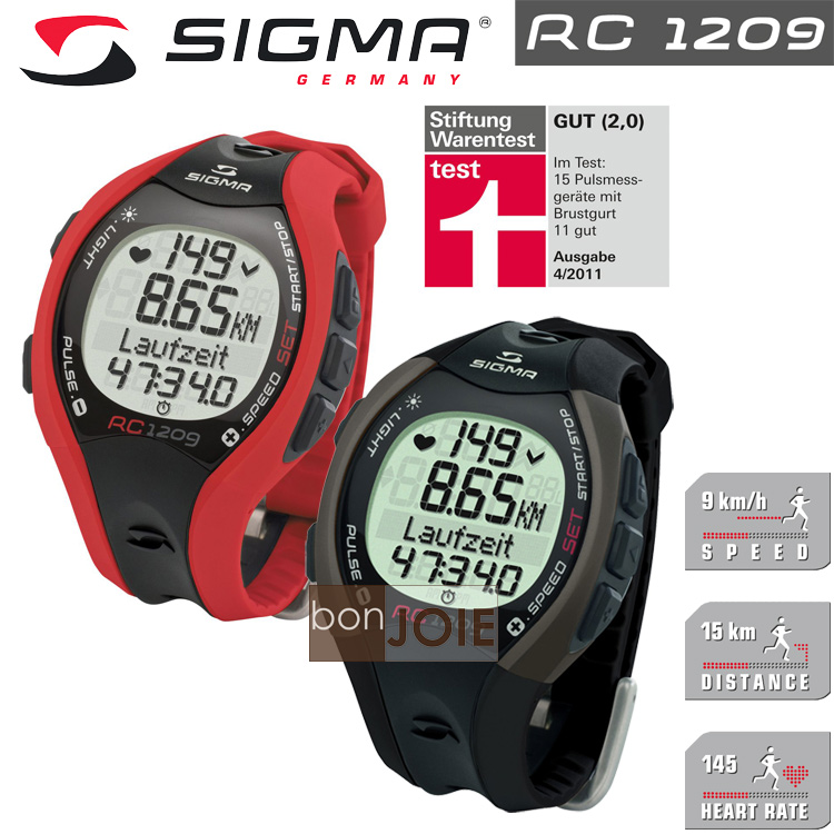 ::bonJOIE:: 德國進口 Sigma Sport RC 1209 跑步專用心跳錶 (紅色、黑色二色可選)(全新盒裝) 心率錶 Heart Rate Monitor RC1209