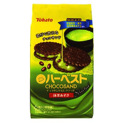 有樂町進口食品 日本Tohato東鳩薄餅(抹茶紅豆味)60g_6包入 60g 4901940028733