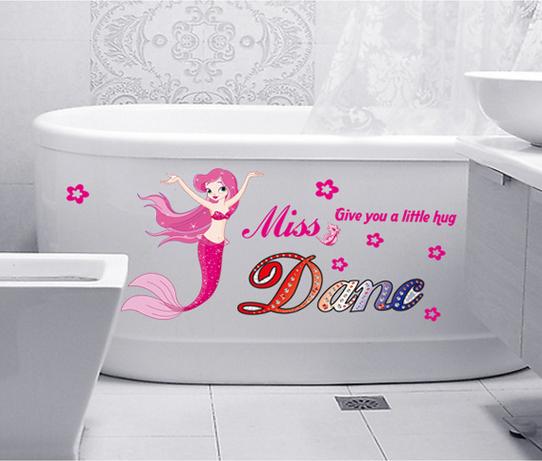 【壁貼王國】 卡通系列無痕壁貼 《粉紅小美人魚 - AY6012》