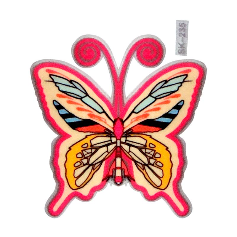 【壁貼王國】 夜光型開關系列無痕貼紙 《粉紅蝴蝶 - SK235》